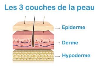 Les 3 couches de la peau